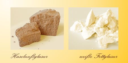 Hazelnut compound coating and vanilla compound coating