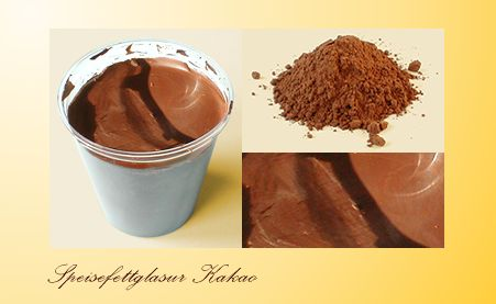 Imitation chocolate coating
